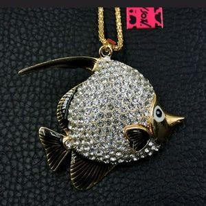 New Betesy Johnson fish necklace